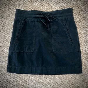 J. Crew Black Cotton Drawstring Skirt
